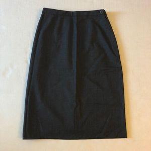 Giorgio Armani Gray Pencil Skirt 36 size 6